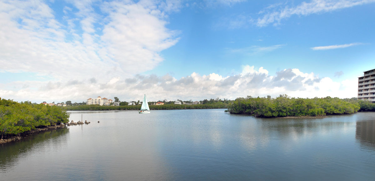 Our Bay Building overlooks the relaxing waters of the intracoastal waterways.